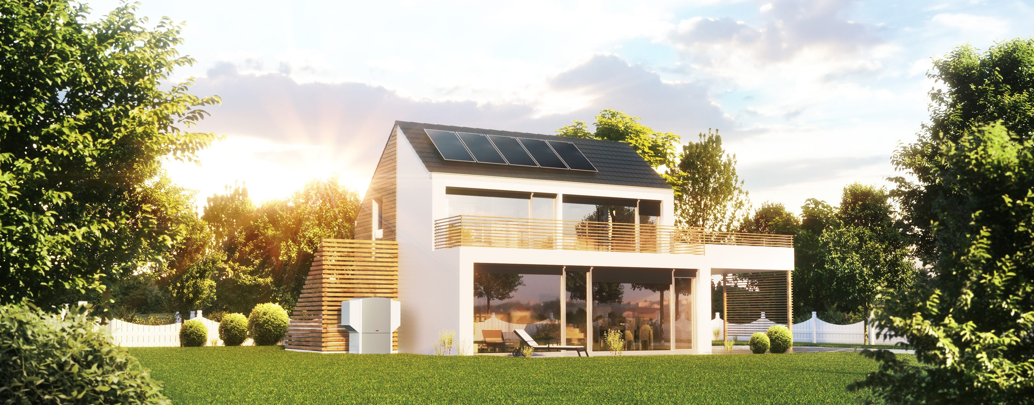 WOLF - Solarhaus - Flachkollektor